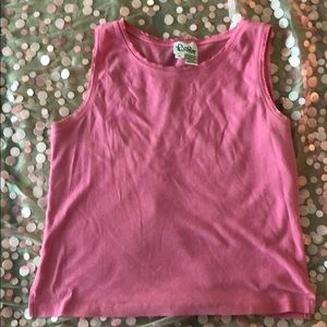 Vtg Lilly Pulitzer xl pink tank top white label